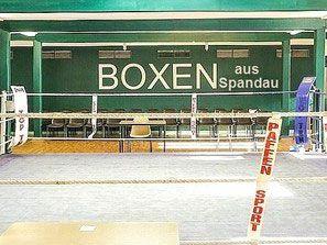 Die Trainingshalle vom Boxverein