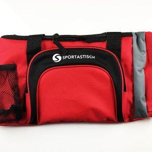 So sieht die Sporttasche Sportastisch Sporty Bag in rot aus wenn sie ausgepackt wurde