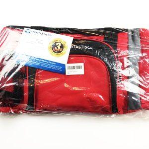 Hier siehst du die verpackte Sporttasche