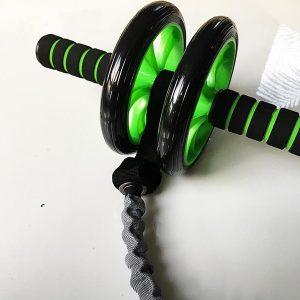 Bauchroller Test Sportastisch Extreme Ab Roller Bauchtrainer Gesamtansicht Gummiband
