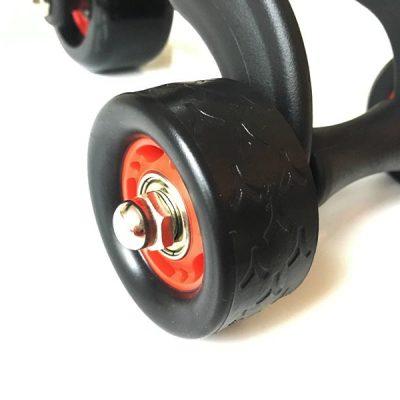 Bauchroller Test Sportastisch Profi Bauchtrainer 3-Wheeler Rad hinten links