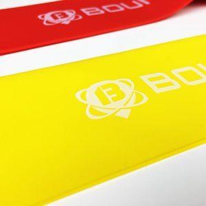 Fitnessband Test Boundletics 3er Set Loop-Bands aus Naturkautschuk Gelb Detailansicht
