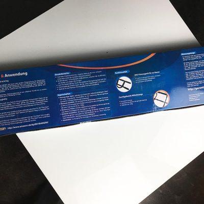 Die Rückseite der Verpackung