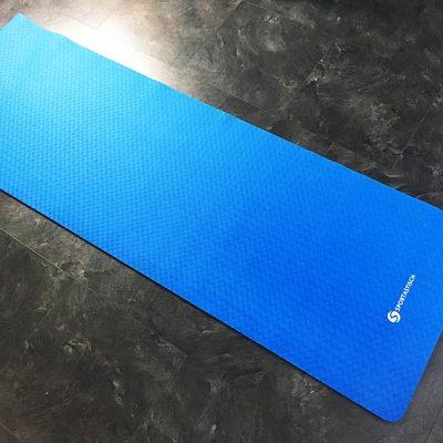 Yogamatte Test Sportastisch Yoga Star Blau Gesamtansicht