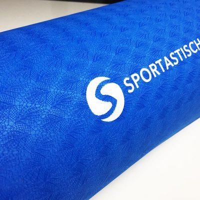 Yogamatte Test Sportastisch Yoga Star Blau Logo