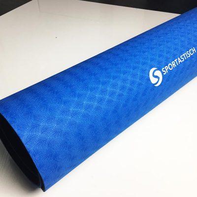 Yogamatte Test Sportastisch Yoga Star Blau gerollt