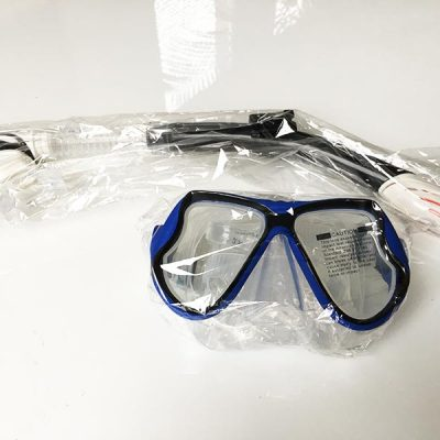 Sowohl die Brille als auch der Schnorchel wurden verpackt geliefert