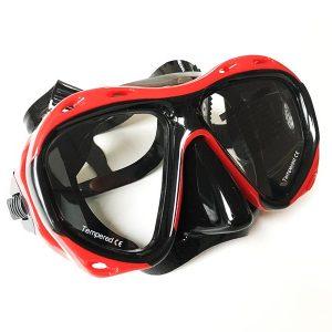 Taucherbrille Test Sportastisch Proswim Rot Gesamtansicht