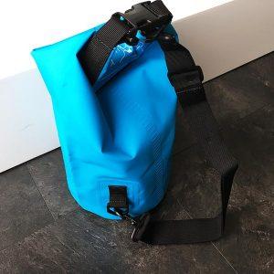 Hier der Dry Bag von hinten in der Gesamtansicht