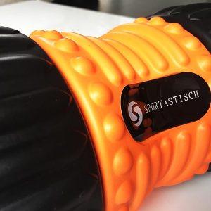 Faszienrolle Test Sportastisch Ergo Roll Logo Oberflaeche