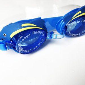 Kinder Schwimmbrille Test Swim Buddy Dolphin Gesamtansicht blau