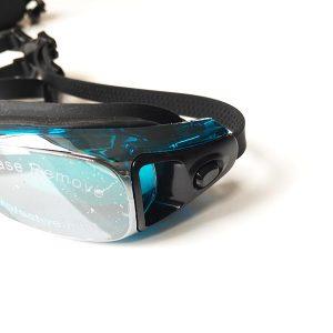 Schwimmbrille Test Sportastisch Torpedo Glas seitlich