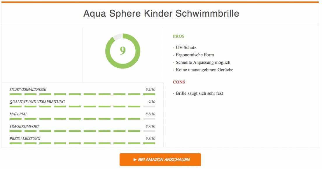 Ergebnis zur Aqua Sphere Kinder Schwimmbrille