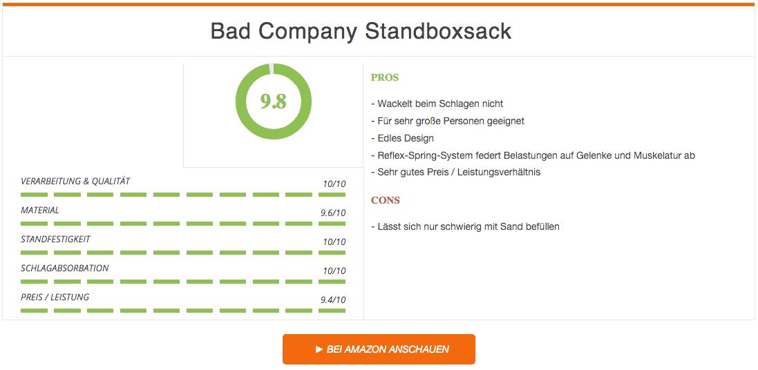 Bad Company Standboxsack Ergebnis