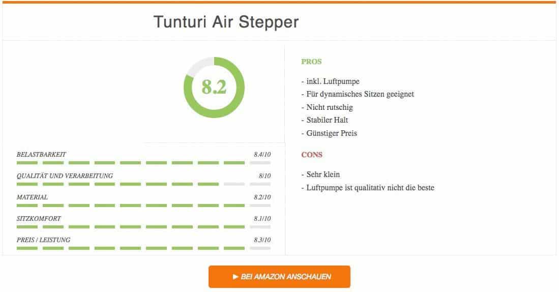 Balancekissen Test Tunturi Air Stepper