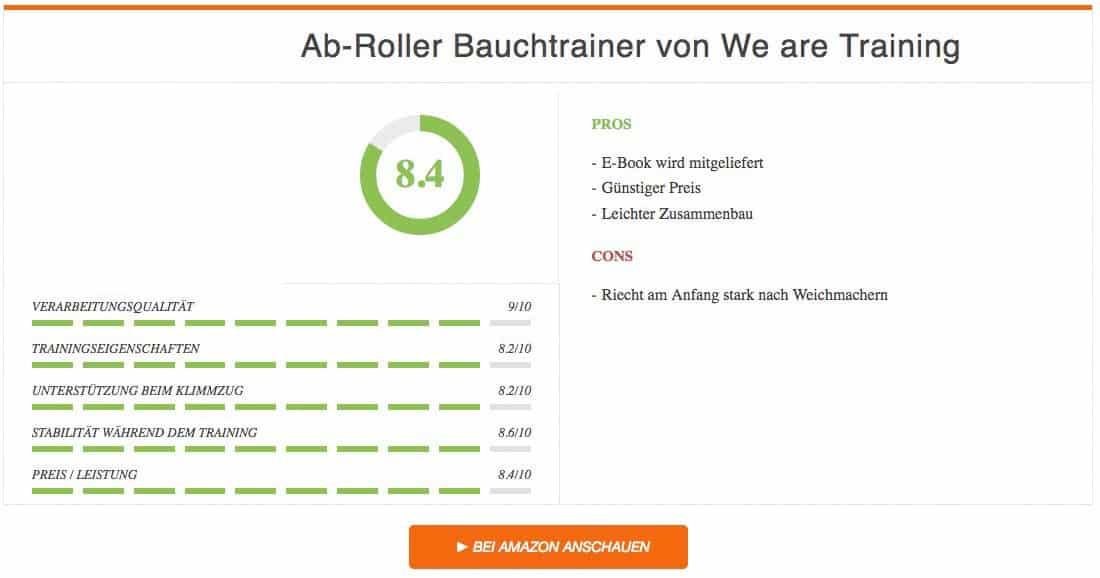 Ab-Roller Bauchtrainer von We are Training Test Ergebnis