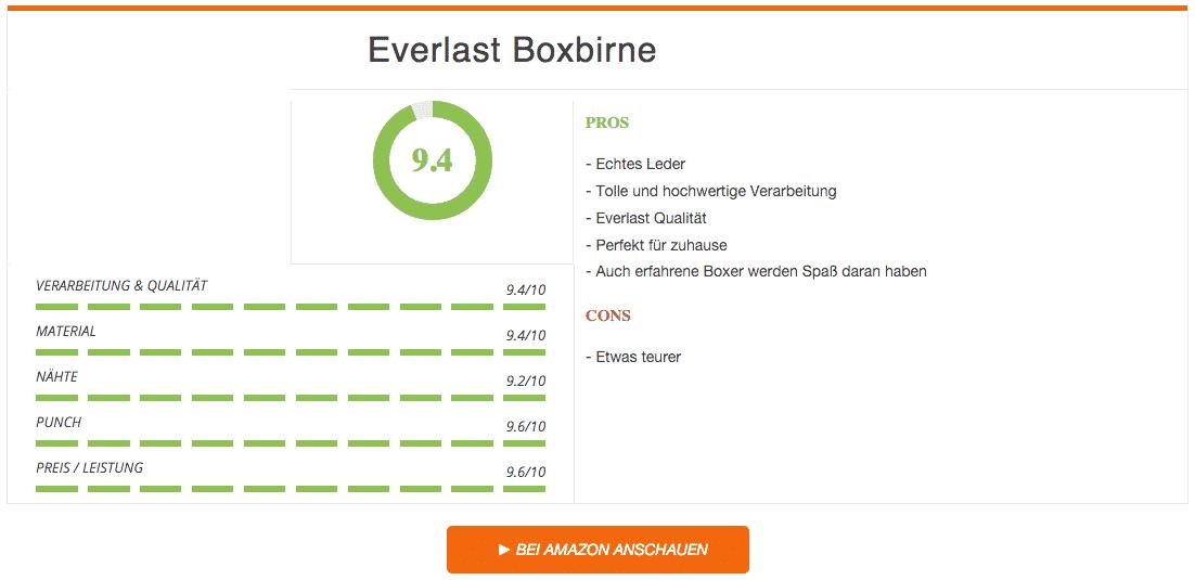 Everlast Boxbirne Ergebnis Leder Schwarz