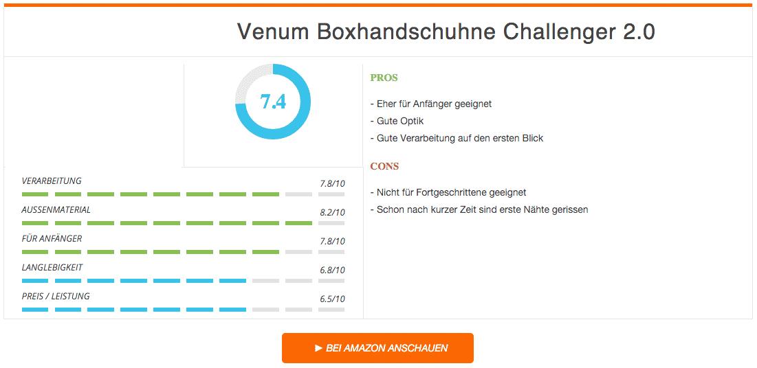 Venum Boxandschuhe Challanger 2 Ergebnis