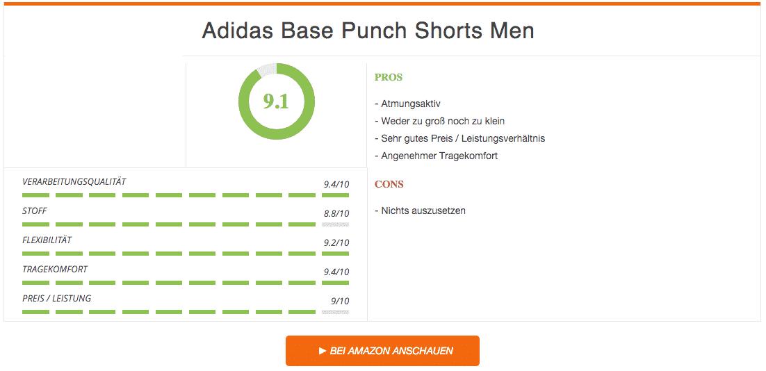 Adidas Base Punch Shorts Boxhose Blau Ergebnis