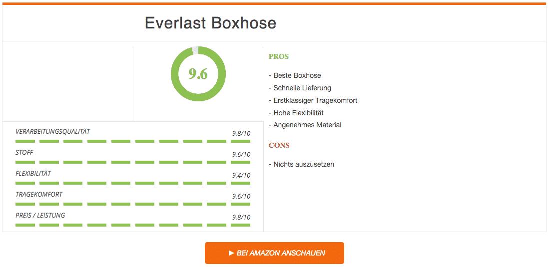 Everlast Boxhose Weiss Schwarz Ergebnis