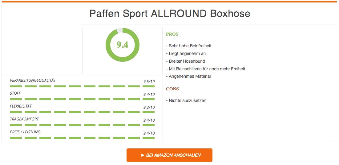 Paffen Sport Allround Boxhose Schwarz Test