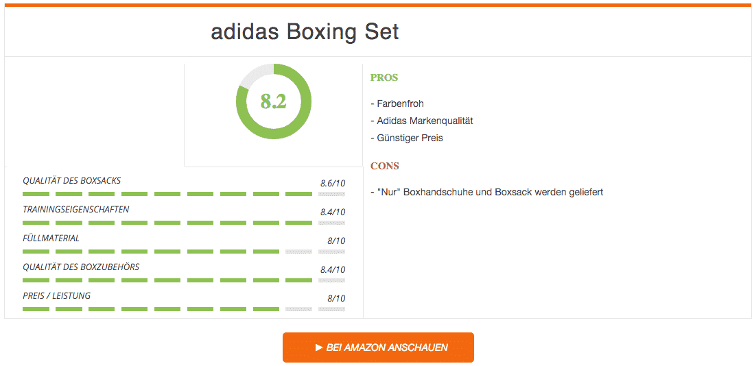 adidas Boxing Set Box-Kit Corner Blau Test