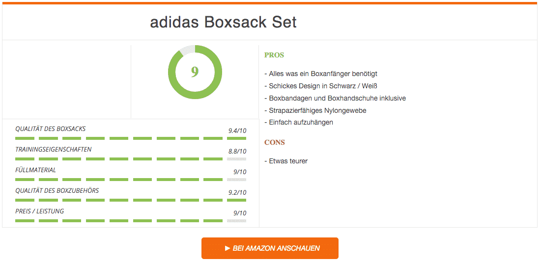 Test adidas Boxsack Set