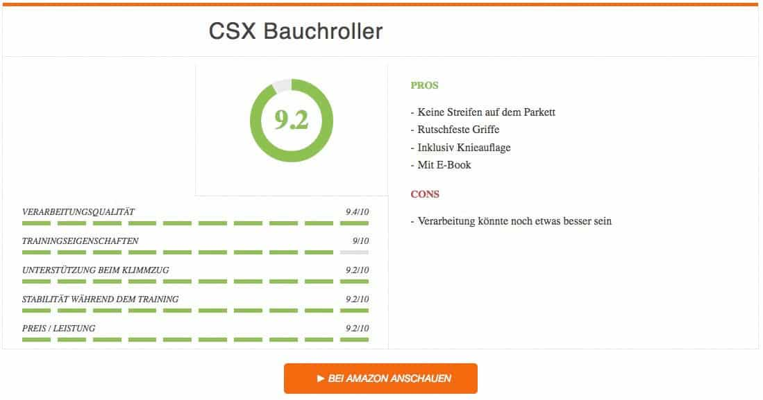 CSX Bauchroller Test Ergebnis