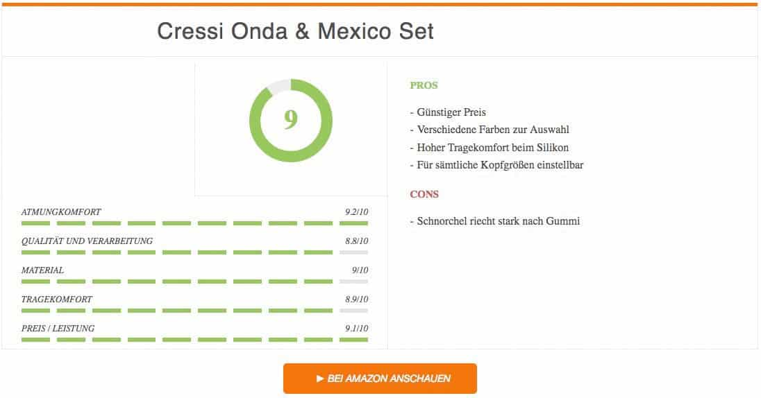 Cressi Onda & Mexico Set Schnorchelset Test