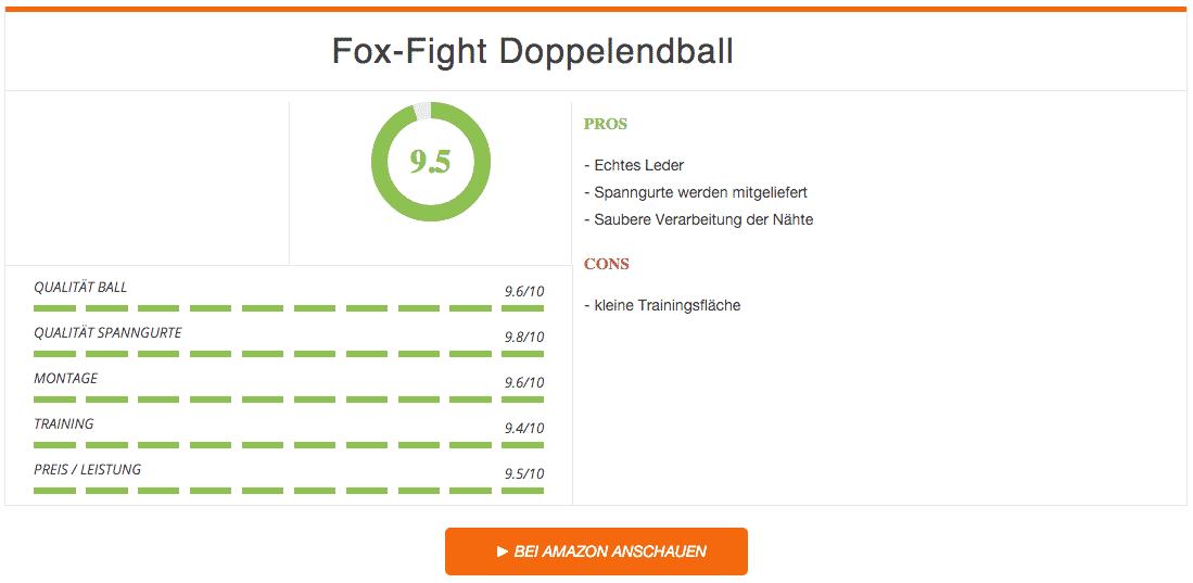 Fox-Fight Doppelendball Schwarz