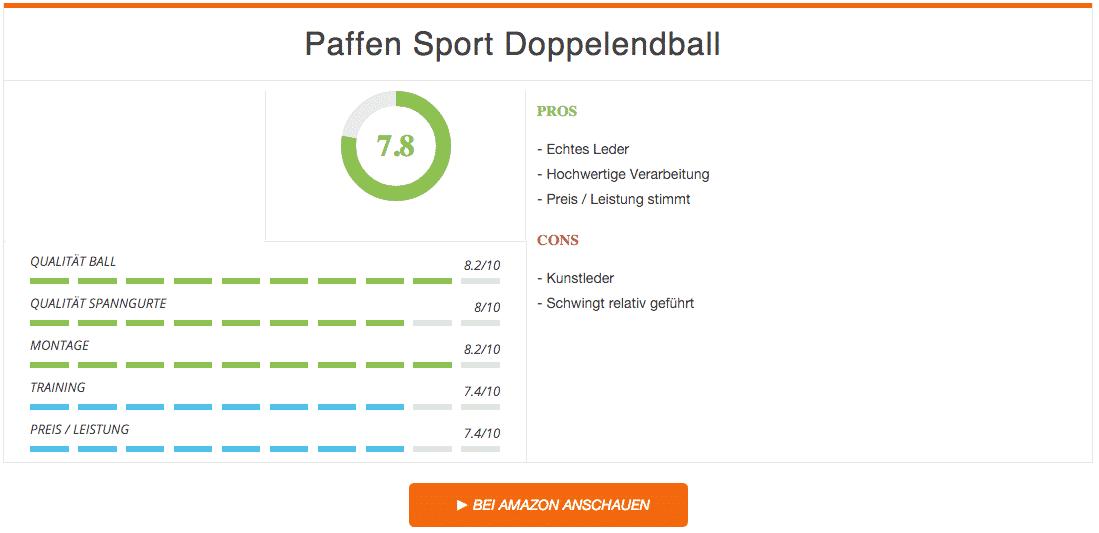 Paffen Sport Doppelendball Schwarz