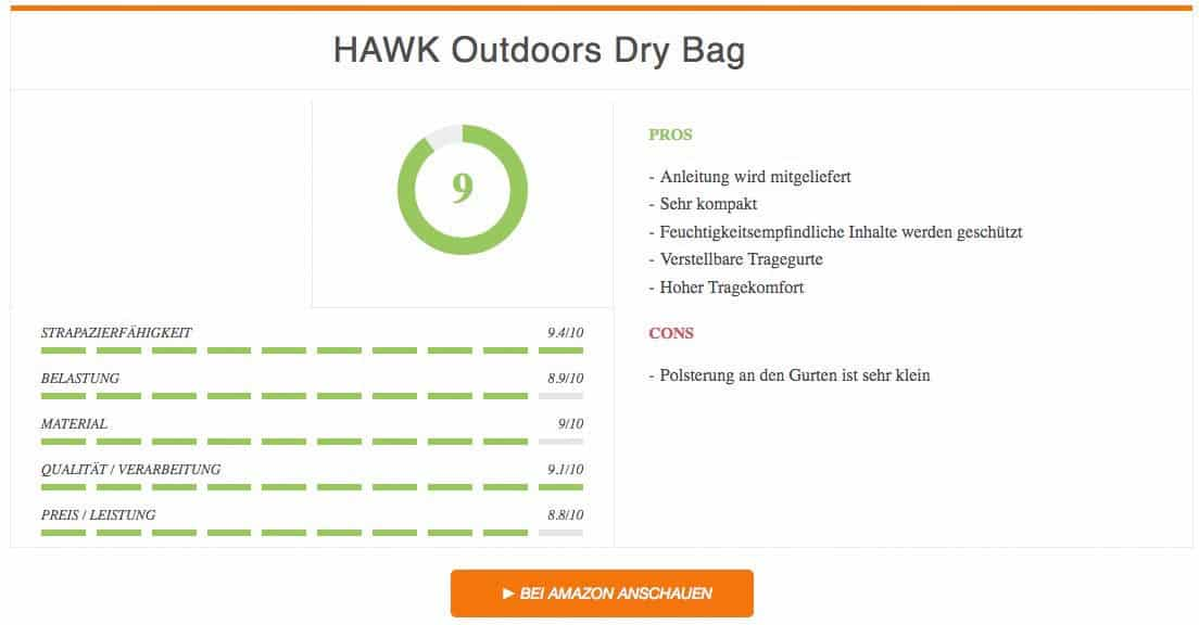 Ergebnis zum HAWK Outdoors Dry Bag
