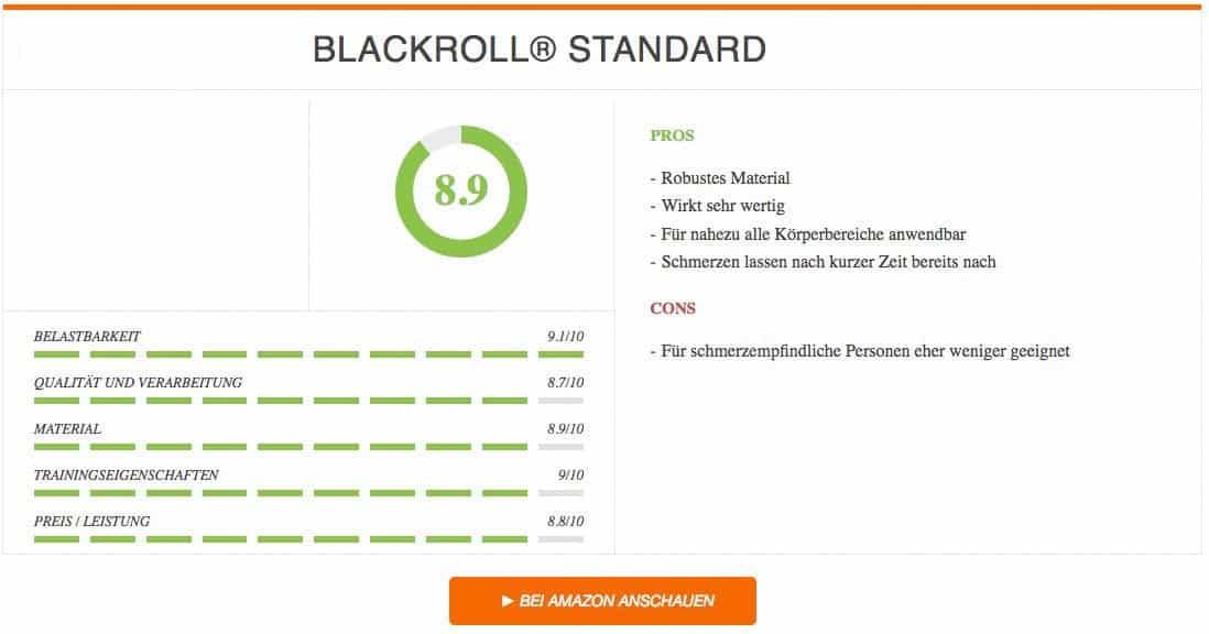 Faszienrolle Test BLACKROLL STANDARD