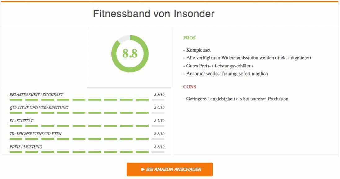 Fitnessband Test Insonder