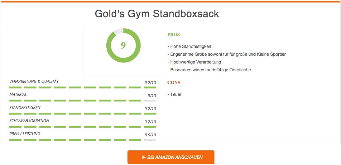 Gold's Gym Erwachsene Standboxsack Tube Trainer Ergebnis