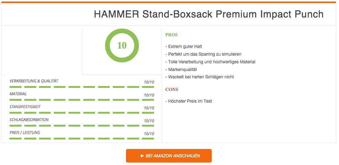 Ergebnis HAMMER Stand-Boxsack Premium Impact Punch