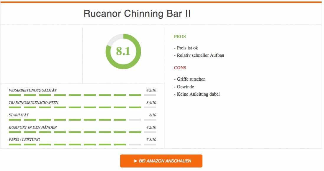 Rucanor Chinning Bar II Ergebnis Klimmzugstange