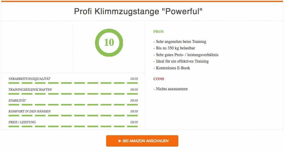 Sportatisch Profi Klimmzugstange Powerful Testieger
