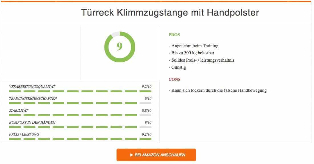 Türreck Klimmzugstange mit Handpolster Ergebnis