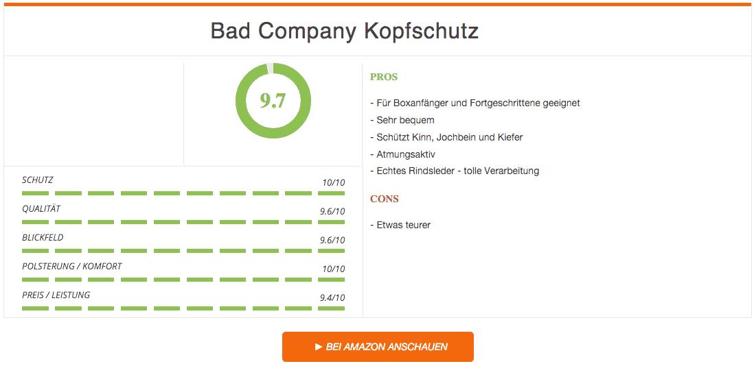 Bad Company Kopfschutz Rindsleder Braun Ergebnis