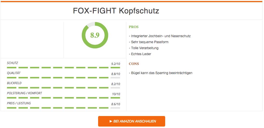 Fox Fight Kopfschutz Schwarz Ergebnis