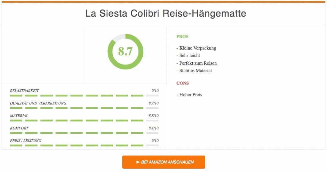 La Siesta Colibri Reise-Hängematte Test