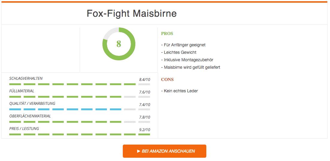 Fox Fight Maisbirne Boxanfänger Ergebnis