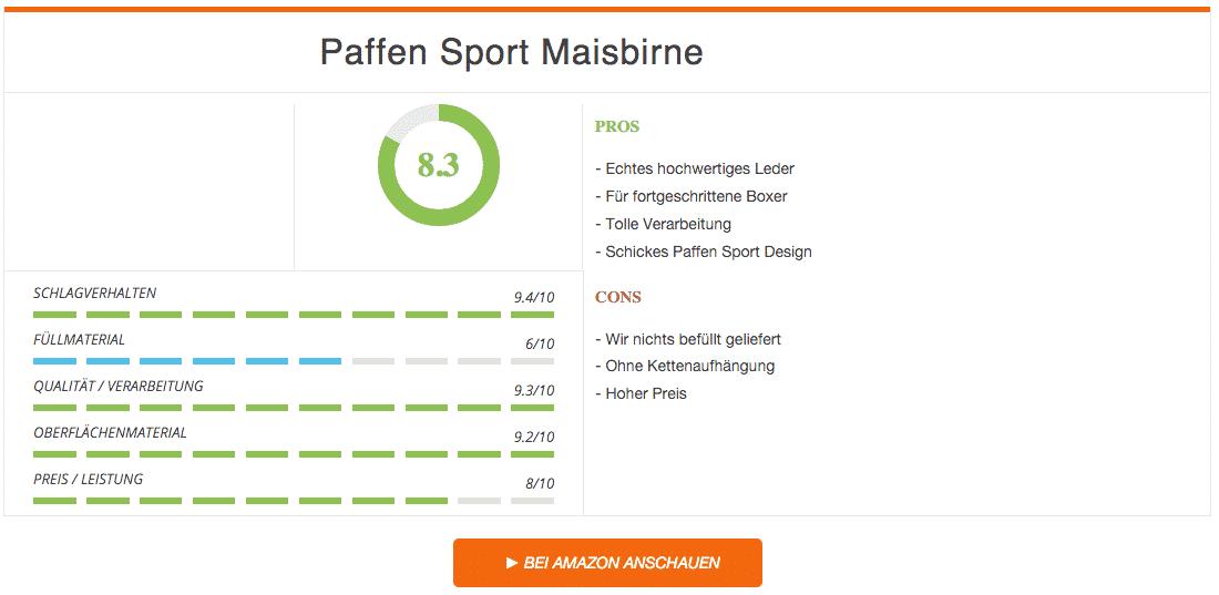 Paffen Sport Maisbirne Rot Schwarz im Test