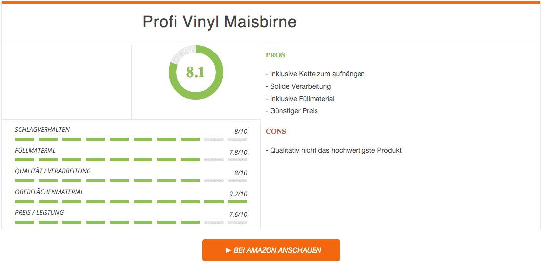 Profi Vinyl Maisbirne Rot Schwarz Ergebnis