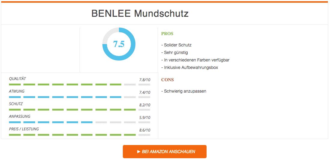 Benlee Mundschutz Zahnschutz Schwarz Ergebnis