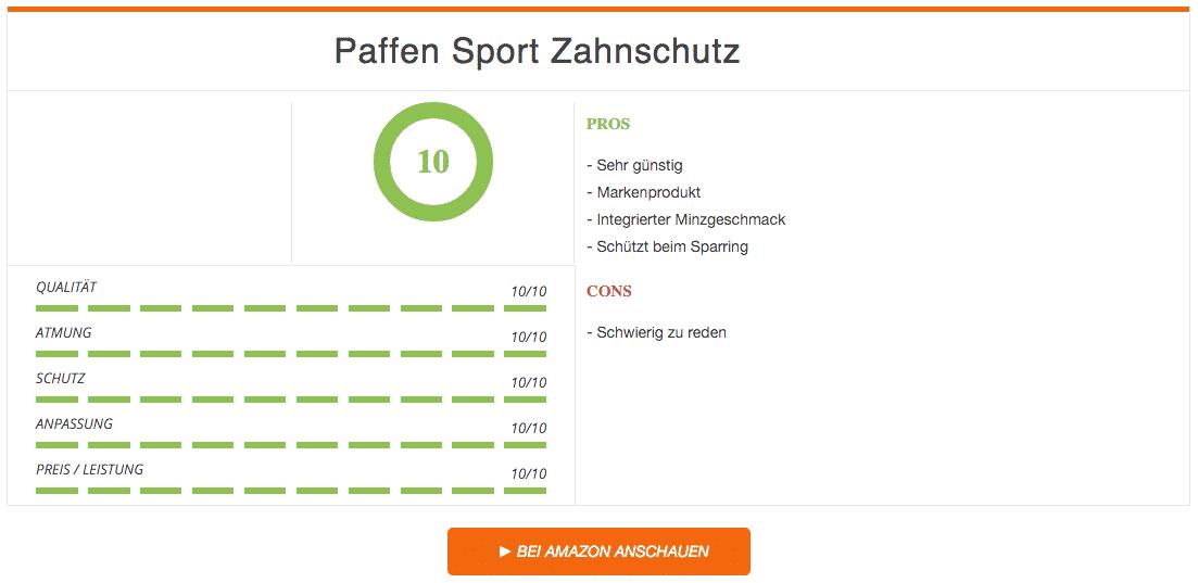 Paffen Sport Zahnschutz Ergebnis Schwarz