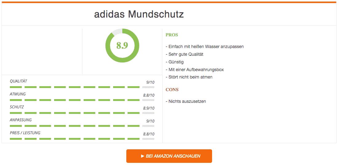 Ergebnis adidas Mundschutz Singe-Guard transparent