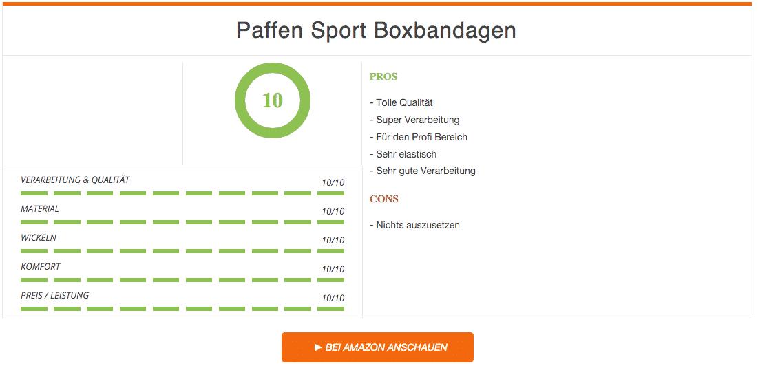 Paffen Sport Boxbandagen Allround Ergebnis 2