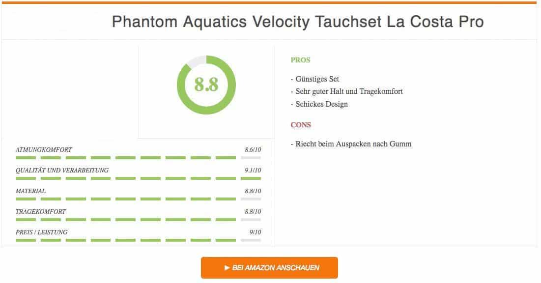 Ergebnis Phantom Aquatics Velocity Tauchset La Costa Pro